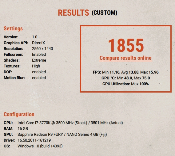 Unigine Superposition Benchmark  | Page 11 | Overclockers UK